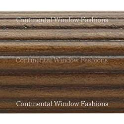Kirsch Wood Trends 1 3/8 Inch Fluted Wood Poles: Unfinished 8 Ft