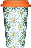 Sagaform Take Away Mug with Tile Pattern, 8-1/2-Ounce