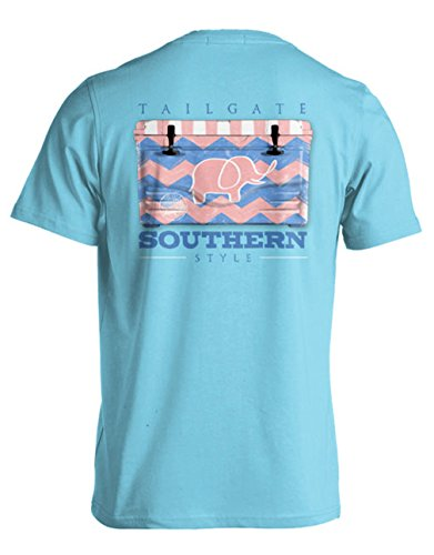 College Tailgate - Preppy Elephant - Chevron Cooler - Small - T-Shirt front-557714