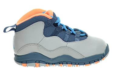 Buy Air Jordan Retro 10 Bobcats (TD) Baby Toddlers Basketball Shoes Wolf Grey Dark Powder Blue-New Salt 310808-026 by Jordan