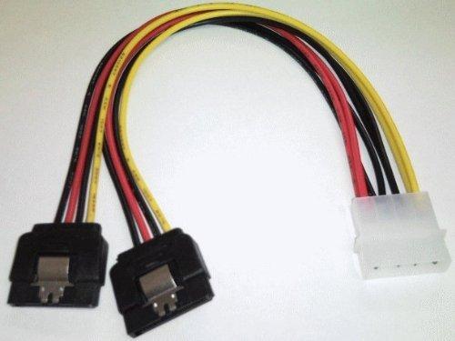 4pin電源をSATA電源2個に分岐(ロック付) 4P-SPR/2