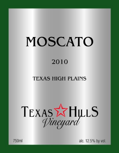 2010 Texas Hills Vineyard Moscato 750 Ml