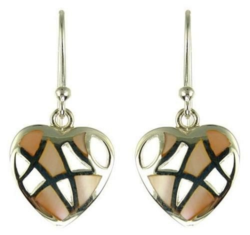 Ladies' Mother of Pearl Drop Earrings, Silver, Model LB/ES16049S1P