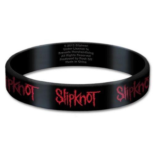 Slipknot Black Wristband Gummy Rubber Bracelet Band Logo Name Gift Official