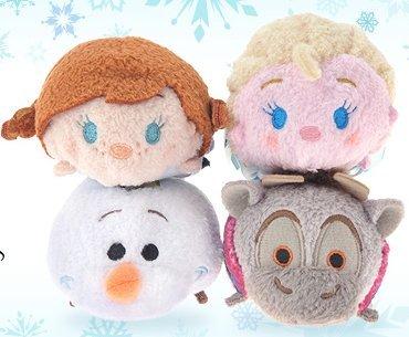 Disney Tsum Tsum Frozen Set - Elsa - Anna - Olaf and Sven Bundle
