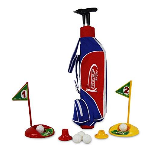 Golfset mit Tasche 3 Schläger Golfbälle Golf Set Minigolf Golfspiel Spiel 84 x 30 cm