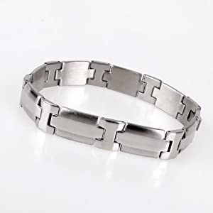 High Polished Stainless Steel Link Mens Bracelet Gift For Dad With Gift Box Jb1007 from FashionOn