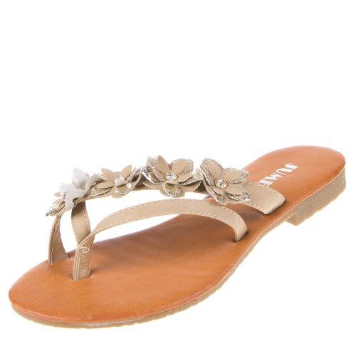 Damen Tan Flacher Schuh mit Strass und Lochmuster - Größe 6 UK/39.5 EU - Braun Lilley jiXDxA6S1