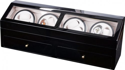 Auer Accessories Helios 624B Watch Winder For 8 Watches Piano polish
