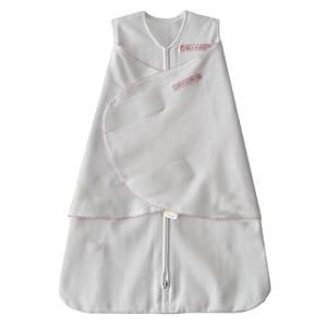HALO 100% Cotton SleepSack Swaddle, Pink Pin Dot, Small