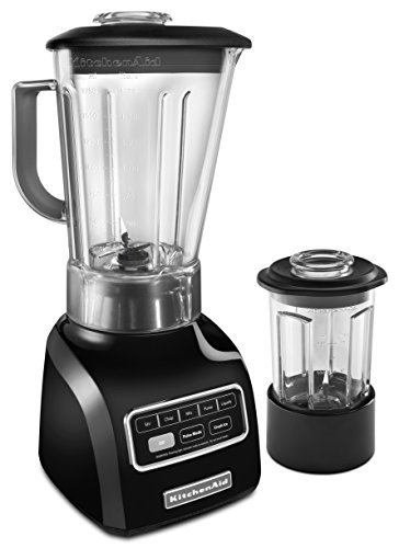 KitchenAid KSB655COB 5-Speed Blender with 56-Ounce BPA-Free Pitcher and 24-Ounce Culinary Jar - Onyx Black (Kitchen Aid 56 Oz Pitcher compare prices)