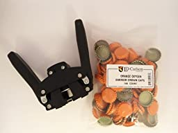Black Beauty Bottle Capper With Orange Oxygen Barrier Crown Caps-144