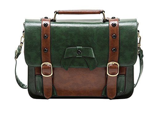 Ecosusi Vintage Designer in pelle Borsa Messenger Cartella Shopping Bag