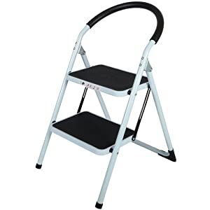 2 Tread Safety Non Slip Folding Step Ladder Stepladder Kitchen Stool