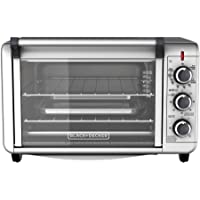 Black and Decker TO3000G 6 Slice Convection Countertop Oven (Silver)