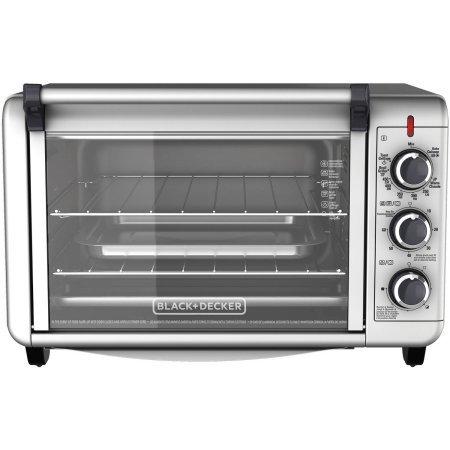 Black & Decker 6-Slice Convection Countertop Toaster Oven, Silver (Black Decker 6 Slice compare prices)