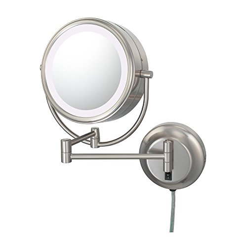 Kimball And Young 92575 Neo Modern Double-Sided Led Mirror, 1X And 5X Magnification, Brushed Nickel front-725431