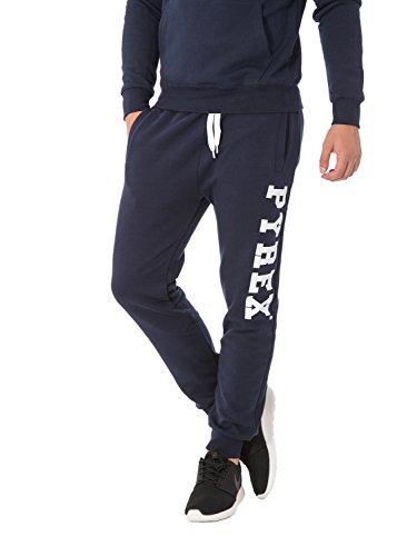 PYREX - Pantaloni unisex uomo donna con stampa regular fit 33002 s blu
