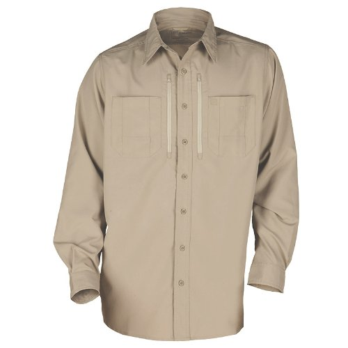 5.11 Traverse Military Casual Work Mens Combat Shirt Tactical Long Sleeve Khaki
