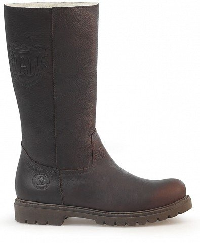 PANAMA JACK BAMBINA WOMENS CALF LENGTH BOOTS - WATERPROOF GREASED NAPPA LEATHER - COLOUR BROWN