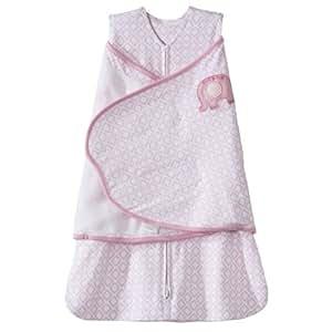 HALO 100% Cotton SleepSack Swaddle Blanket, Print Girl, Newborn (Discontinued by Manufacturer)