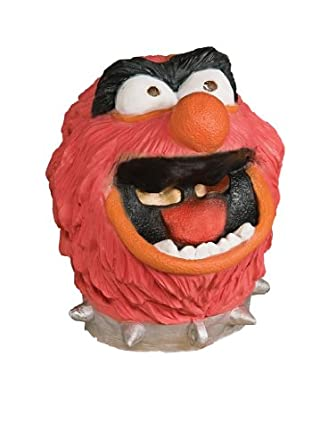 The Muppets Deluxe Adult Animal Overhead Latex Mask, Red, One Size