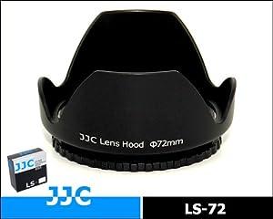 Bajonett-Gegenlichtblende / Sonnenblende / Streulichtblende JJC LS-72 für Canon Nikon Olympus Sony Pentax Sigma Panasonic Objektive mit 72mm Filtergewinde