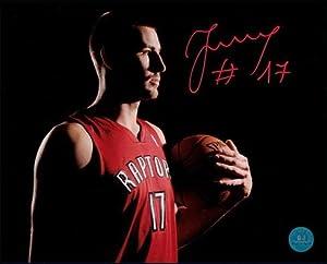JONAS VALANCUINAS Toronto Raptors SIGNED 16x20 Photo - Autographed NBA Photos by Sports Memorabilia