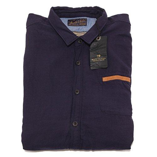 8141P camicia blu foderata SCOTCH & SODA camicie uomo shirt men [XL]