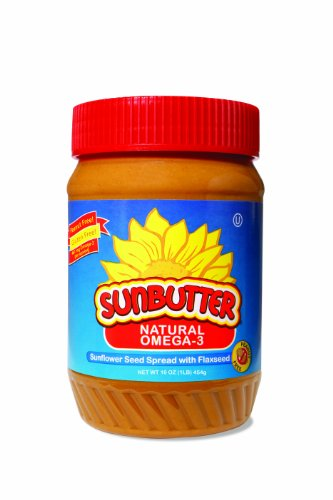 Sunbutter Natural Omega-3 Sunflower Seed Spread, 16-Ounce Plastic Jars (Pack Of 3)