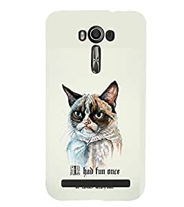 TOUCHNER (TN) Angry Cat Back Case Cover for Asus Zenfone 2 Laser ZE500KL::Asus Zenfone 2 Laser ZE500KL (5 Inches)