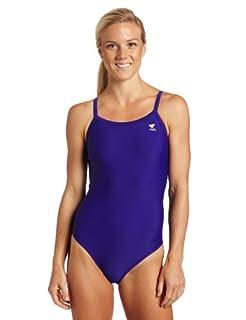 TYR Sport Women's Solid Diamondback Swim Suit,Purple,38