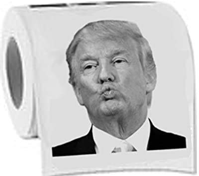 Donald Trump Toilet Paper - Dump with Trump!- Highly Collectible Novelty Toilet Paper - Funny for Democrats or Republicans - Give the Gift of Laughter- Funniest Political Gift of 2016 by TrumpToiletPaper.net