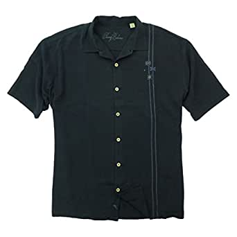 Tommy Bahama Mens Gin Atomic Embroidered Silk Camp Shirt