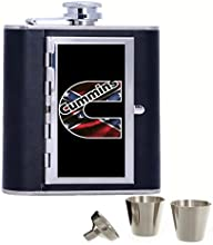 Turbo Diesel Dodge Cummins Custom Personalized 6oz Pu Leather Flask Black Stainless Steel Funnel For