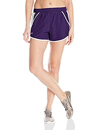 Under Armour Short Entrenamiento Fly By (Morado / Blanco)