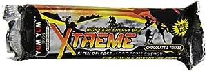 YUM YUM Bros Xtreme Hi Carb Energy Bars, Chocolate and Toffee, 90 Gram Bar (Pack of 12)