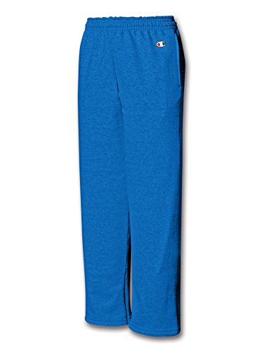 Champion Youth Double Dry Action Fleece Open Bottom Pant - X-Large, Royal Blue