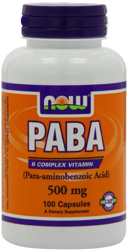 NOW Foods Paba, 100 Capsules / 500mg