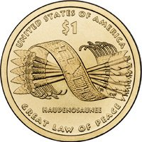 2010 D Mint Sacagawea Native American Golden Dollar Uncirculated Coin