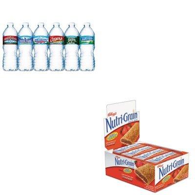 kitkeb35945nle101243-value-kit-kelloggs-nutri-grain-cereal-bars-keb35945-and-nestle-bottled-spring-w