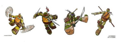 Teenage Mutant Ninja Turtles Temporary Tattoos - 25 Count - 1