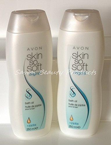 2-x-avon-skin-so-soft-original-bath-body-oil-250ml-insect-flies-mosquito-repellent