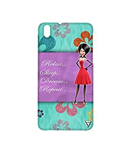 Vogueshell Relax Sleep Printed Symmetry PRO Series Hard Back Case for HTC Desire 816