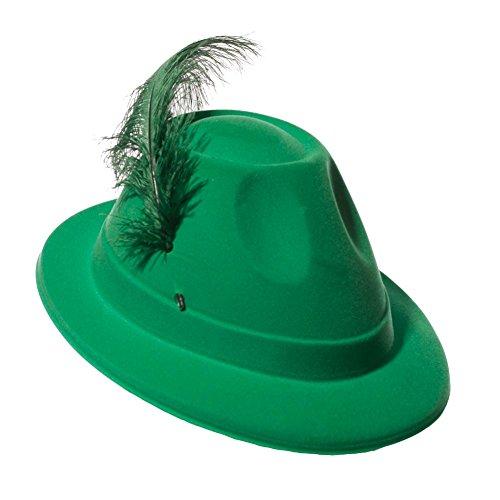 Green Velour Oktoberfest Hat