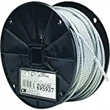 Campbell 7008427 Uncoated Fiber Core Wire Rope on Reel, 1/2
