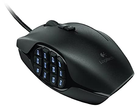 Logitech G600 MMO Gaming Mouse, Black (910-002864)