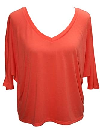 YogaColors Crystal V-Neck Flowy Cropped Blouse Tee