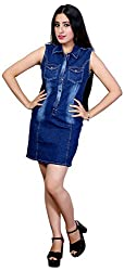Style Souk Women's Body Con Dress (37_M, Blue, Medium)