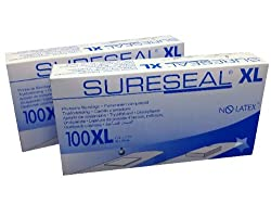 SureSeal Bandages XL No Latex 85200 Pack of 2 Boxes 200 bandages Sure Seal